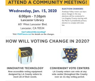 Community Outreach: Voting Changes for 2020